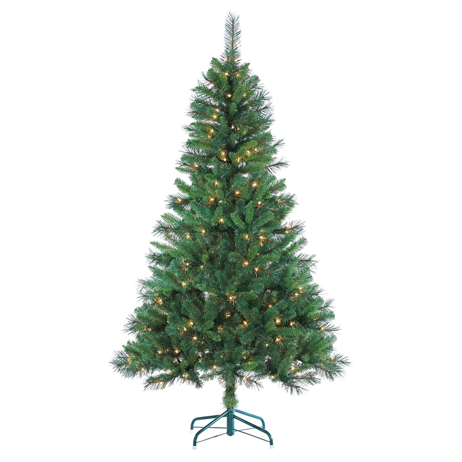 7 ft. Pre-lit LED Emerald Pine Christmas Tree with Bluetooth Multi ...