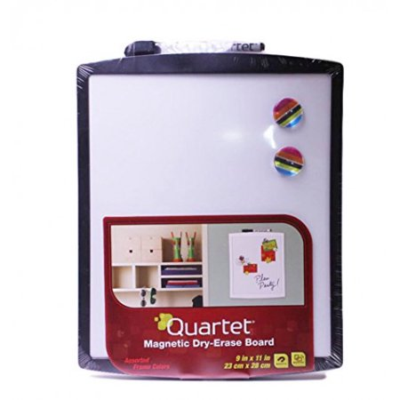 Quartet Magnetic Dry-Erase Board with Curved Frame, 9