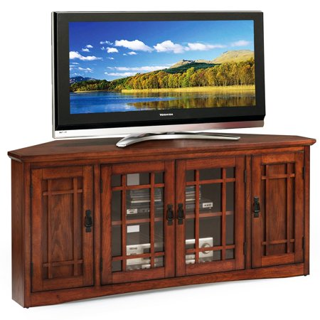 Leick Home 56 Corner Tv Stand For Tv S Up To 60 Mission Oak