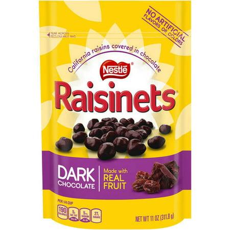 Raisinets Chocolate Raisins - Nestle Raisinets Dark Chocolate with Covered Raisins, 11 Oz.