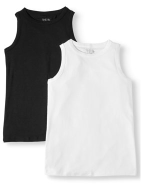ff3244b9 Product Image Women's High Neck Tank, 2 Pack Bundle
