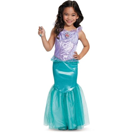 Disguise Disney Princess The Little Mermaid Ariel Dress Deluxe Costume Medium 7-8 - Dress Up Princess Ariel