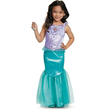 Disguise Disney Princess The Little Mermaid Ariel Dress Deluxe Costume Medium 7-8 - Disney Deluxe Costumes