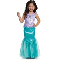 Disguise Disney Princess The Little Mermaid Ariel Dress Deluxe Costume Medium 7-8