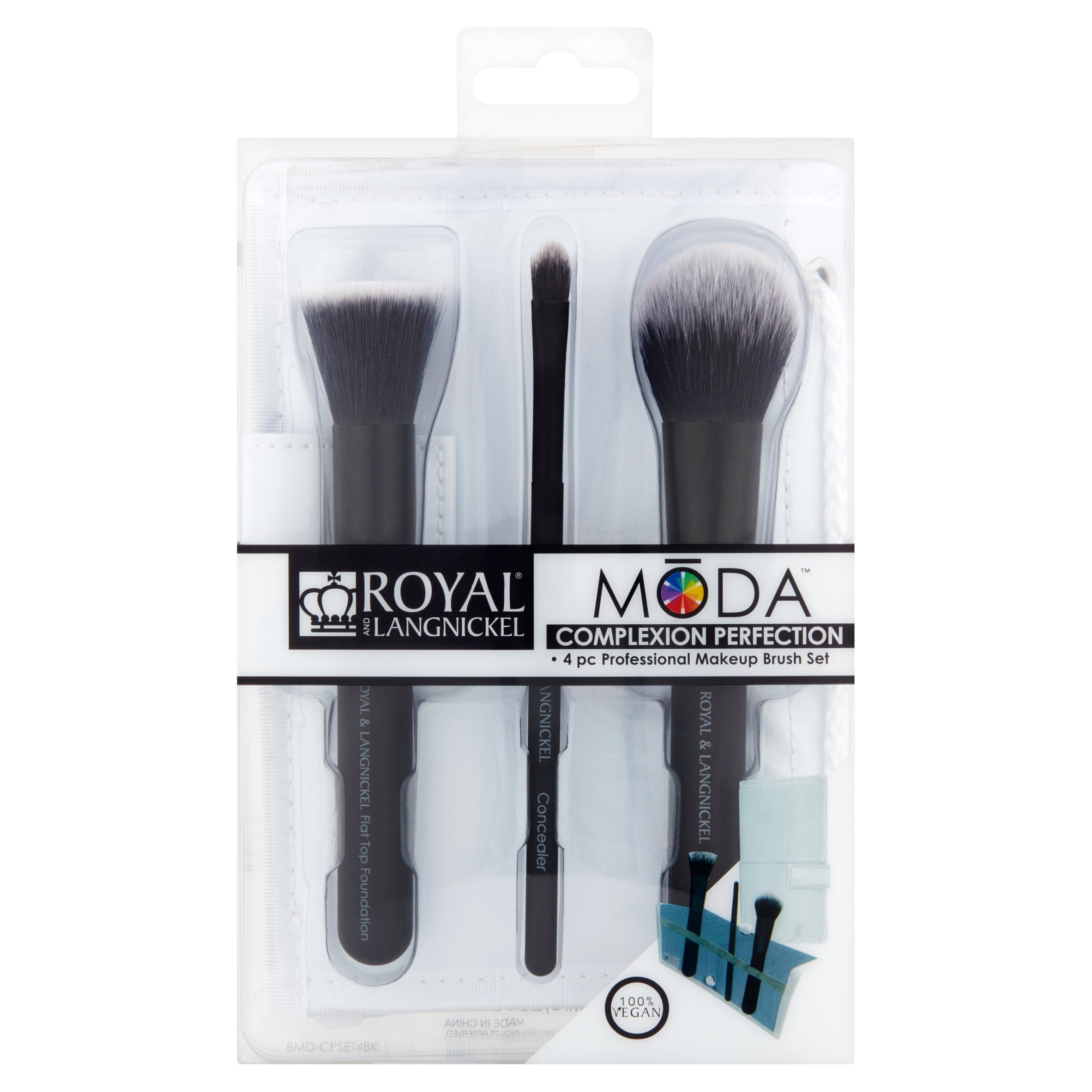 Royal and Langnickel Mōda Complexion Perfection Professional Makeup Brush Set