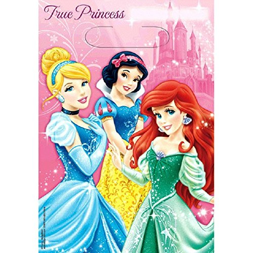 Disney Princess Party Favor Treat Bags, 8ct