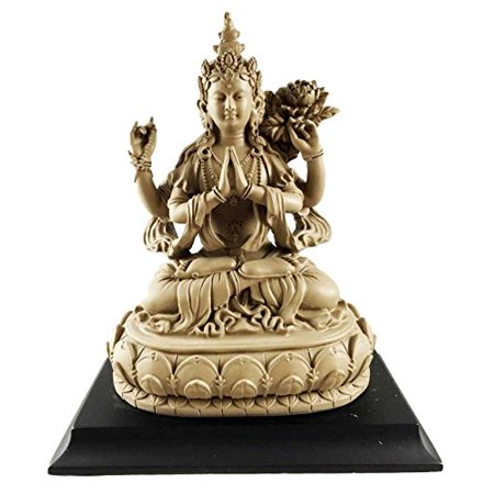 Seated Kuan Yin Statue - Avalokiteshvara Bodhisattva Compassion Of Buddhas Kuan Yin Buddhism Figurine