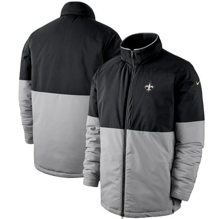 New Orleans Saints Nike 2019 Sideline Shield Full-Zip Jacket - Black/Gray