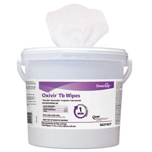 Johnson Diversey 5627427 Oxivir Tb Disinfectant Wipes, 6 X 7, White, 160/bucket, 4 Bucket/carton