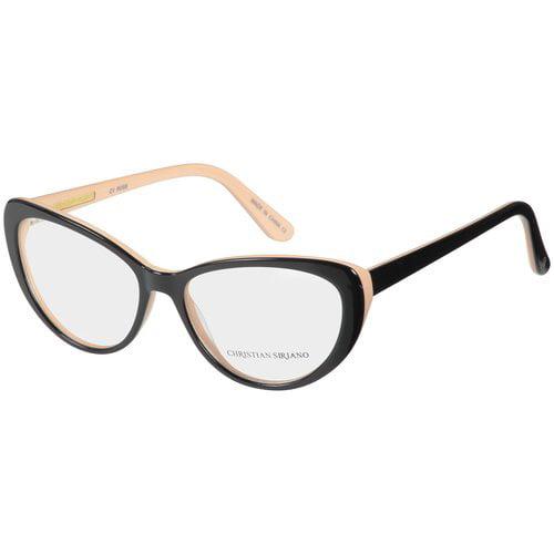 christian siriano eyeglass frames roseblack nude