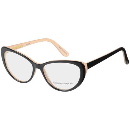 Christian Siriano Eyeglass Frames, Rose--Black Nude