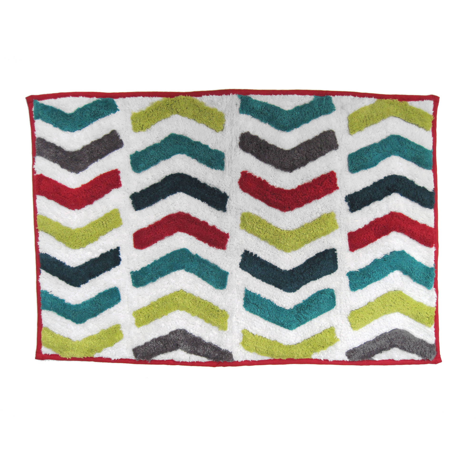 Exceptionnel Mainstays Chevron Multi Bath Rug