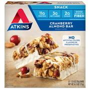 Atkins Cranberry Almond Bar, 1.23oz, 5-pack (Snack Bar)