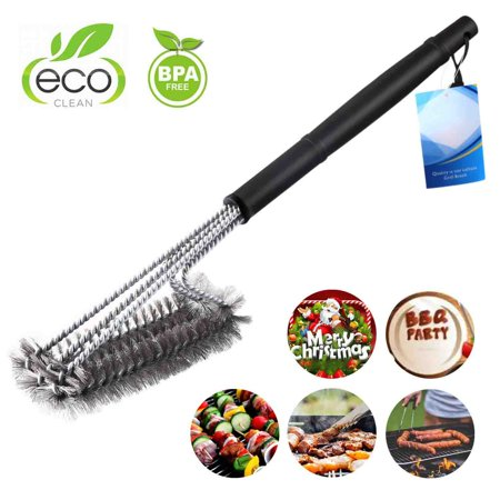 Bristle Free Grill Brush -BBQ Cleaning Brush Scraper Set for Stainless Steel,Ceramic, Iron, Gas & Porcelain BBQ Grates(Version (Porcelain Barbecue)