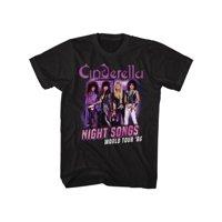 Cinderella Rock Band Night Songs Tour Black 2-Sided Adult T-Shirt Tee 3XT