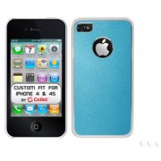 Cellet Slim Fit Case with Aluminum Plating for AT&T, Sprint, Verizon Apple iPhone 4/4s, Blue