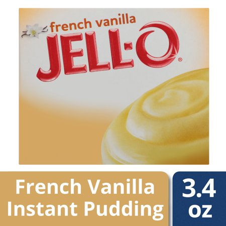 (4 Pack) Jell-O Instant French Vanilla Pudding & Pie Filling, 3.4 oz Box