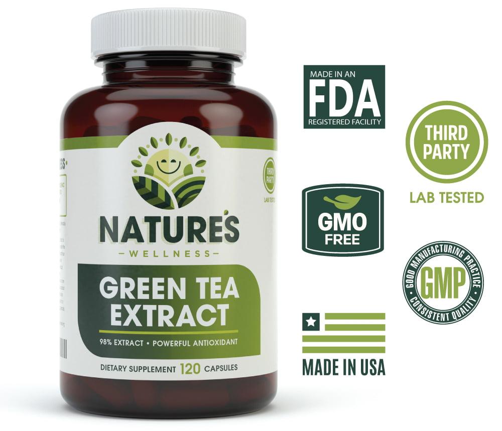 EGCG Green Tea Extract Capsules - Powerful Metabolism ...