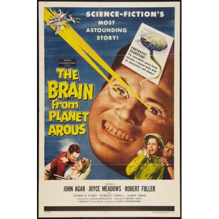 The Brain From Planet Arous Movie Poster Metal Sign 8inx 12in (Planet Earth Peace Sign)