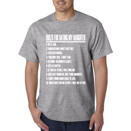 picture rules for dating my daughter shirt