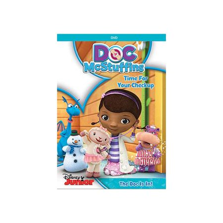 Doc McStuffins: Time For Your Checkup (DVD + Activity Growth Chart With Stickers) (Widescreen) Get ready to start your day in a wonderful way!  Doc McStuffins: Time For Your Checkup  is all about helping to keep toys - and little ones - happy and healthy. Join Doc and her trusty team of lovable toys as every new checkup leads to miles of smiles. Laugh along when Doc cures Gus the Gator's  Stuffedfulliosis.  Blast off with Star Blazer Zero as Doc shows him how to play it safe from launch through landing. Whether it's eating right, getting enough rest or getting an annual physical check-up, this delightful and nurturing program combines music, humor and surprises in five fun-filled adventures that inspire friendship, hugs and stay-healthy habits every day.