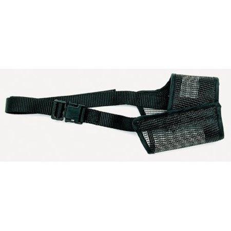 Coastal Pet Products Best Fit 01300 BLK08 Black Nylon Strap Adjustable Mesh Dog Muzzle Size 8
