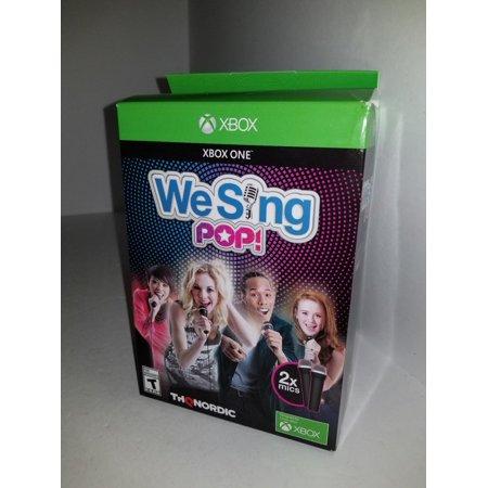We Sing Pop Game + 2 Mic Xbox One Bundle Edition W/2 TWO (Best Big Bundles Of Games)
