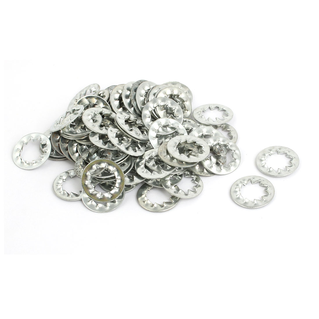 8mm Inner Dia Carbon Steel Zinc Plated Internal Serrated Lock Washer 120pcs - image 2 of 2