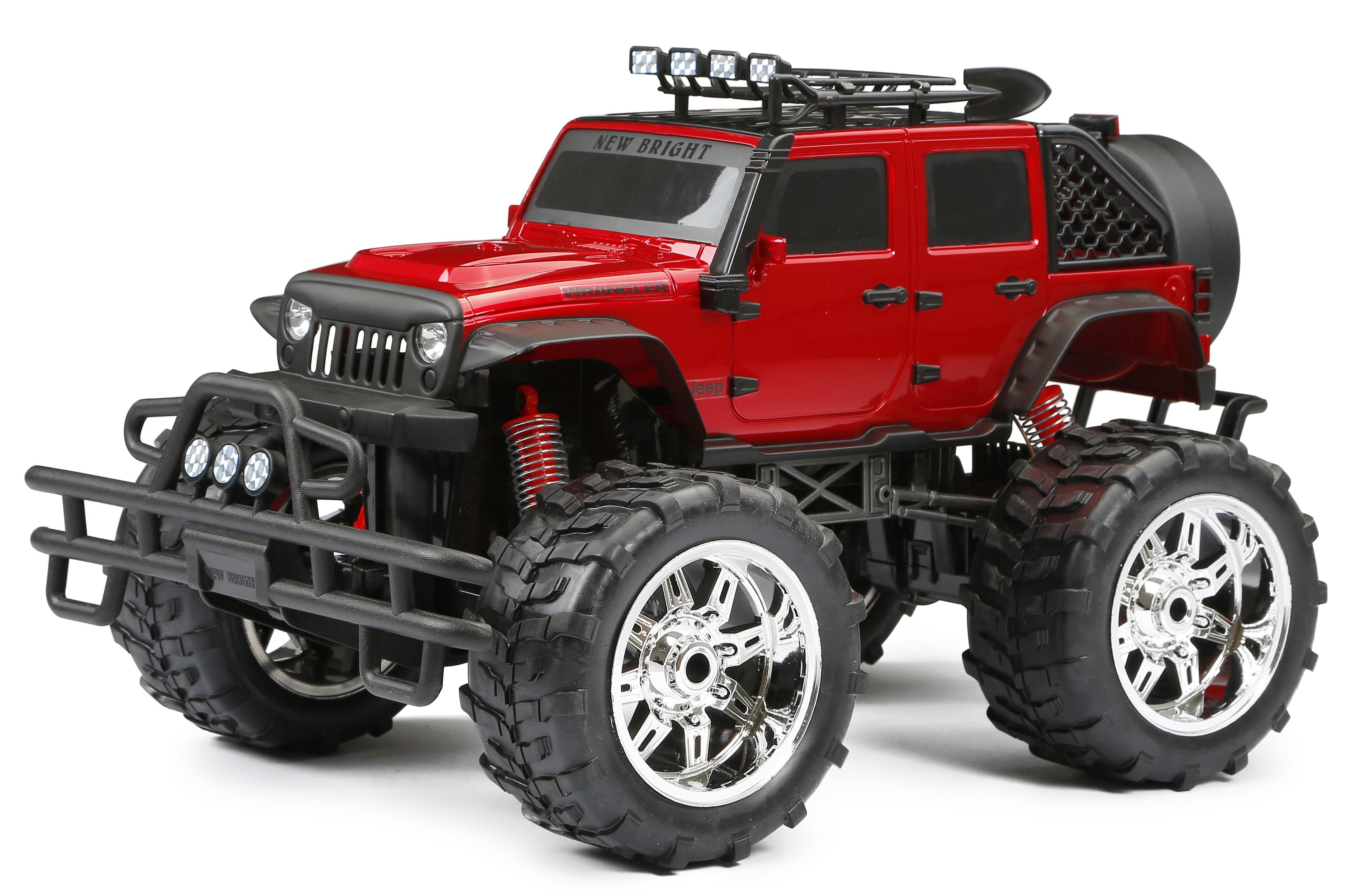 New Bright 1 10 Scale Jeep Wrangler 4 Door Radio Control Jeep Walmart Com Walmart Com