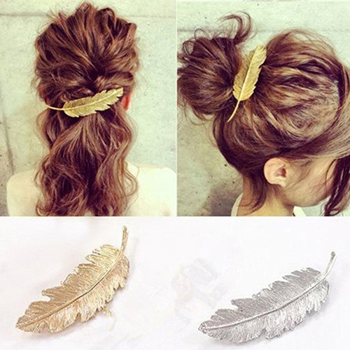 Girl12Queen Women's Vintage Style Leaf Hair Clip Pin Claw Leaves Hairpin Barrette Accessory