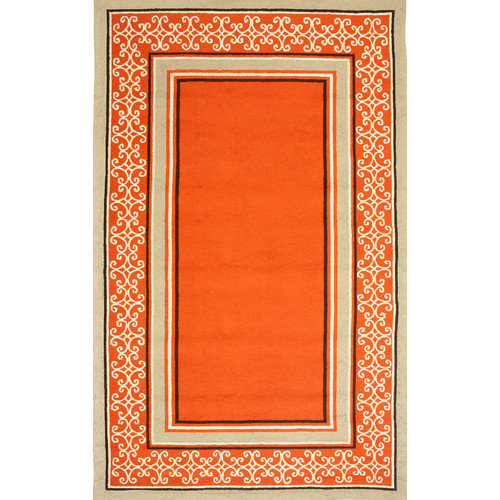 Duracord Outdoor Rugs Sawgrass Mills Whimsy Orange Indoor/Outdoor Rug