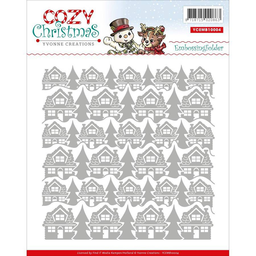 Find It Trading Yvonne Creations Embossing Folder, Cozy Christmas