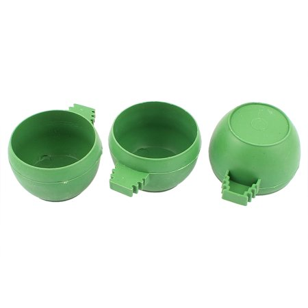 - Unique Bargains Hamster Parrot Bird Cage Hanging Water Food Feeder Cup Bowl 35mm x 50mm 3Pcs