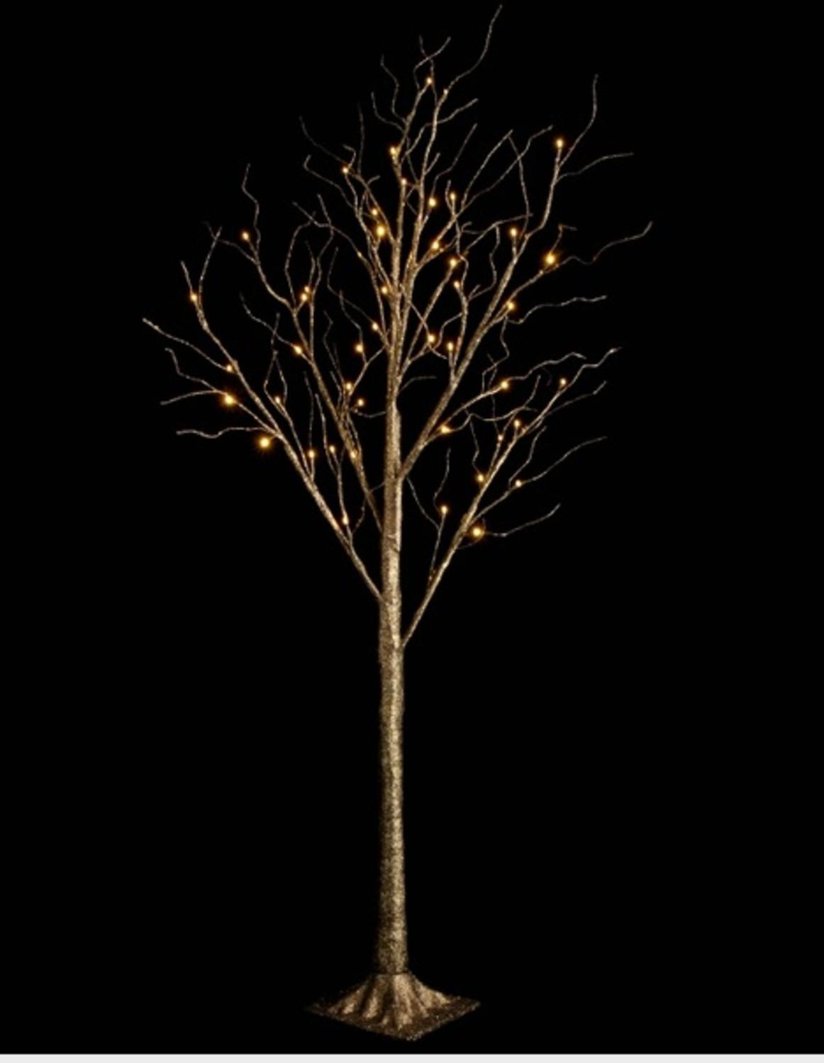 """48"""" LED Lighted Bronze Glitter Twig Tree Commercial Christmas Decoration"""