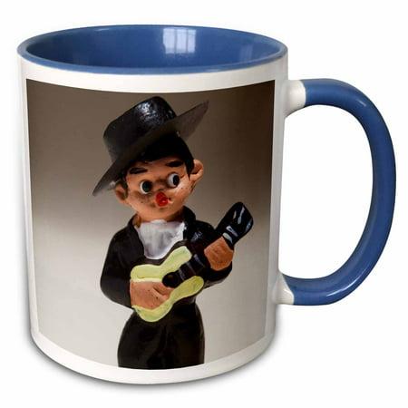 3dRose Spain, Madrid, souvenir of Spanish musician - EU27 WBI0232 - Walter Bibikow - Two Tone Blue Mug,
