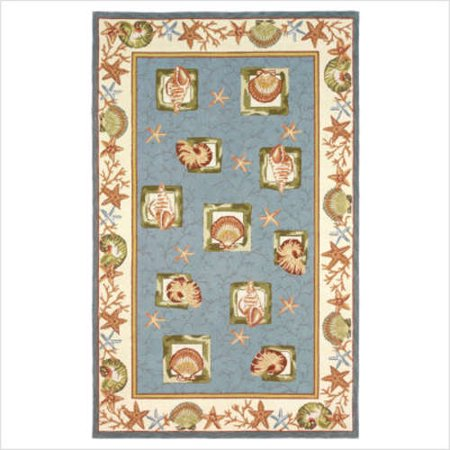 828 rugs international staccato accents blue seashells for International home decor rugs