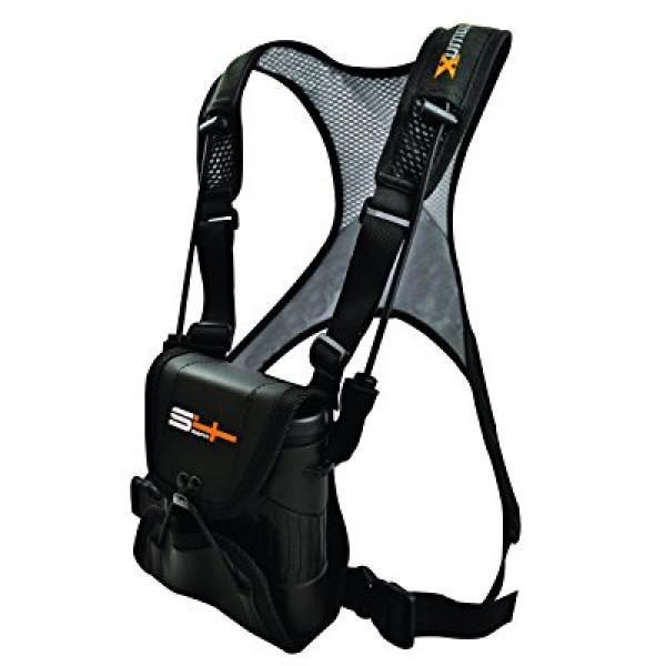 S4Gear LockDownX Binocular Harness (Black) for use with binoculars by Leupold,Nikon,Swarovski,Bushnell,Canon etc by S4 Gear