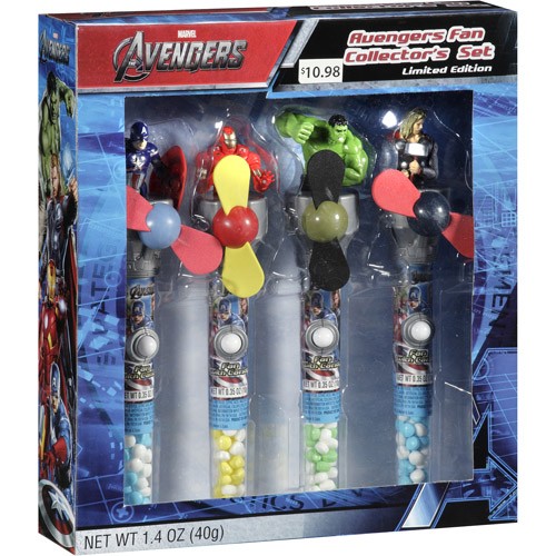 Candy Avengers Fan Collector's Set Candy, 4 pc