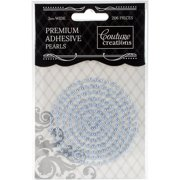 Couture Creations Self-Adhesive Pearls 3mm 206/Pkg-Cornflower Blue
