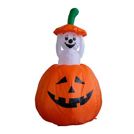 Aisle Decorations (The Holiday Aisle Halloween Inflatable Pumpkin Ghost)