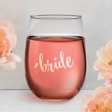 Hashtag Personalized Stemless Wine Glass - Personalized Stemless Wine Glasses