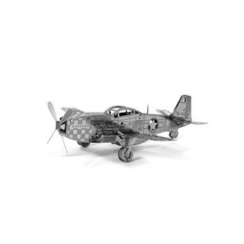 Fascinations Metal Earth P-51 Mustang Airplane 3D Metal Model Kit