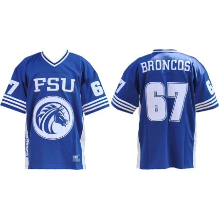 Big Boy Fayetteville State Broncos S8 Mens Football Jersey [Royal Blue - 4XL]
