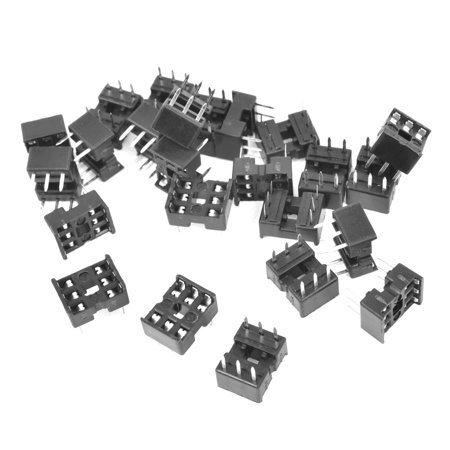 Unique Bargains 25 Pieces 2.54mm Pitch 6 Pins Double Row DIP IC Socket Adapter Solder