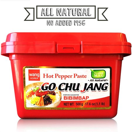 [Wang Food] Gochujang, Hot Red Chili Pepper Paste, Korean Traditional Essential Seasoning Sauce, Cholesterol Free Fat Free All Natural No MSG Added, Made in Korea