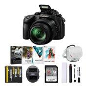 Panasonic LUMIX FZ1000 4K 16x Long Zoom Digital Camera (Black) Holiday Bundle