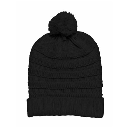 Winter Thick Slouchy Knit Oversized Beanie Cap Hat + GT Fingerless - Oversized Gloves