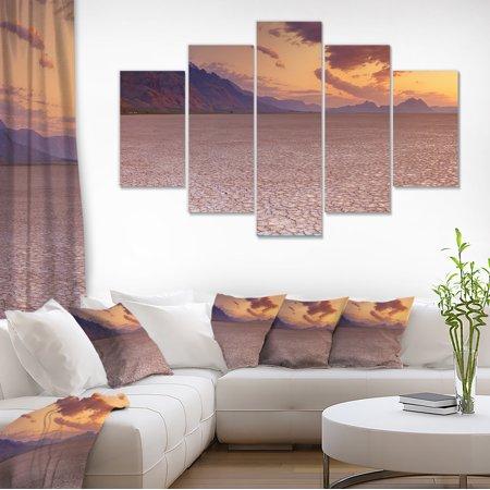 Cracked Earth in Alvord Desert - Landscape Canvas Art Print - image 1 of 3