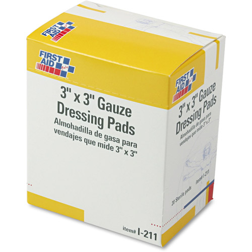 First Aid Only Gauze Dressing Pads, 10 count