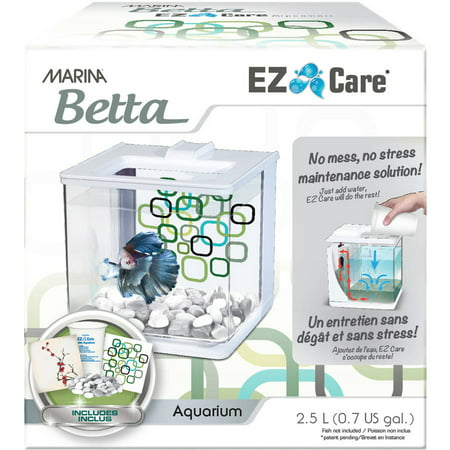 Marina betta ez care 5 gallon aquarium fish tank white for Whiting fish at walmart